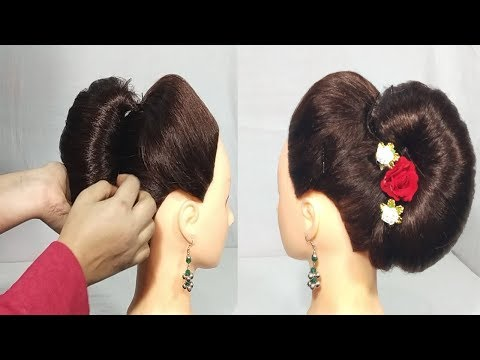 Very Easy French Roll Hairstyles French Bun Hairstyle For