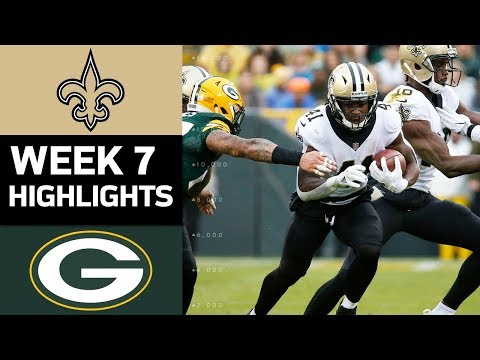 Saints vs. Packers | NFL Week 7 Game Highlights