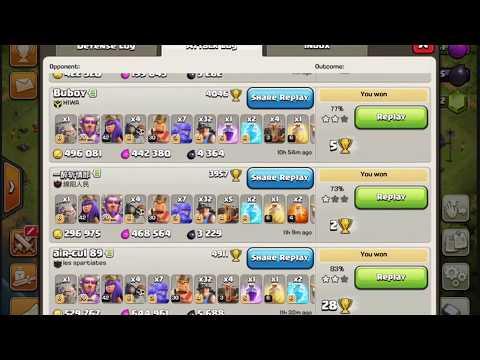 Clash of clans-3 legend attacks | MAUI GR