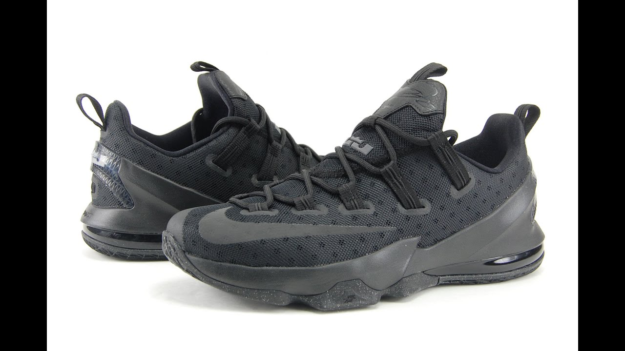 700f8e27bac Nike LeBron 13 Low Triple Black 3M Review - YouTube