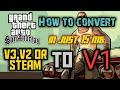 How to downgrade GTA SA steam version or v2 to 1 (one)