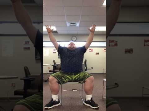 DDP YOGA CHAIR WARRIOR WORKOUT