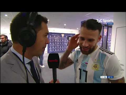 Palabras de Otamendi post Argentina 1-0 Rusia