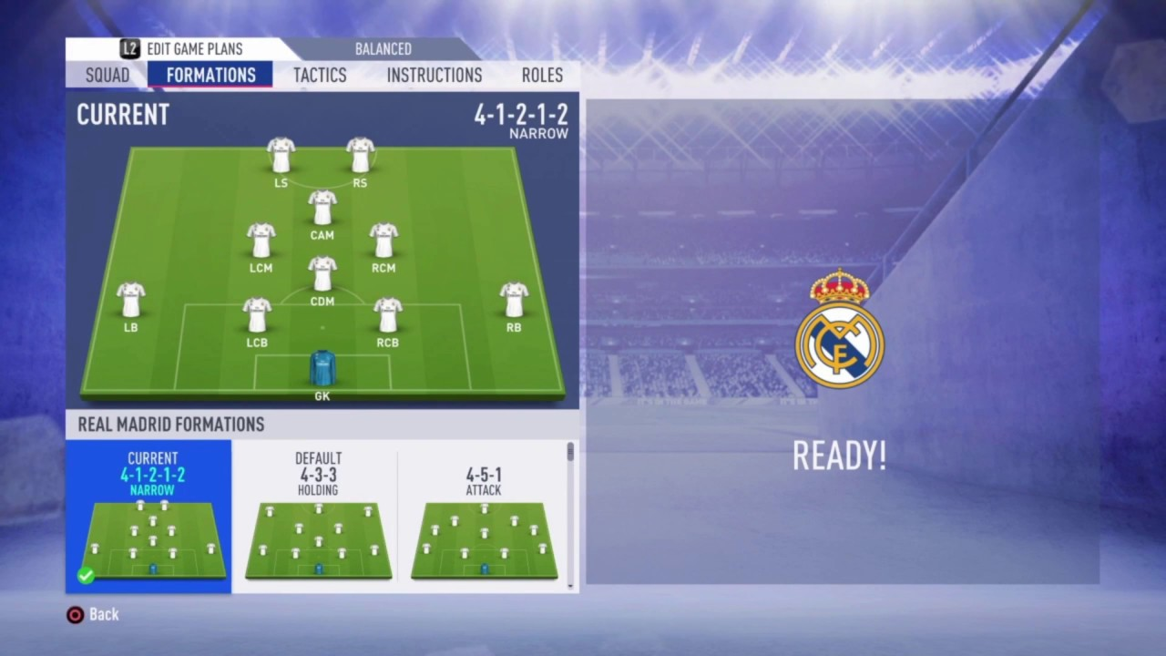Fifa 19 Real Madrid Review Best Formation Best Tactics And