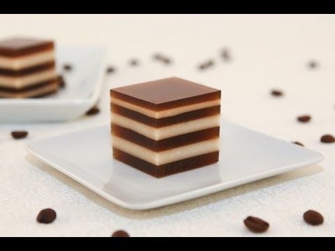 Coffee and Cream Agar Jelly (Thach Ca Phe)