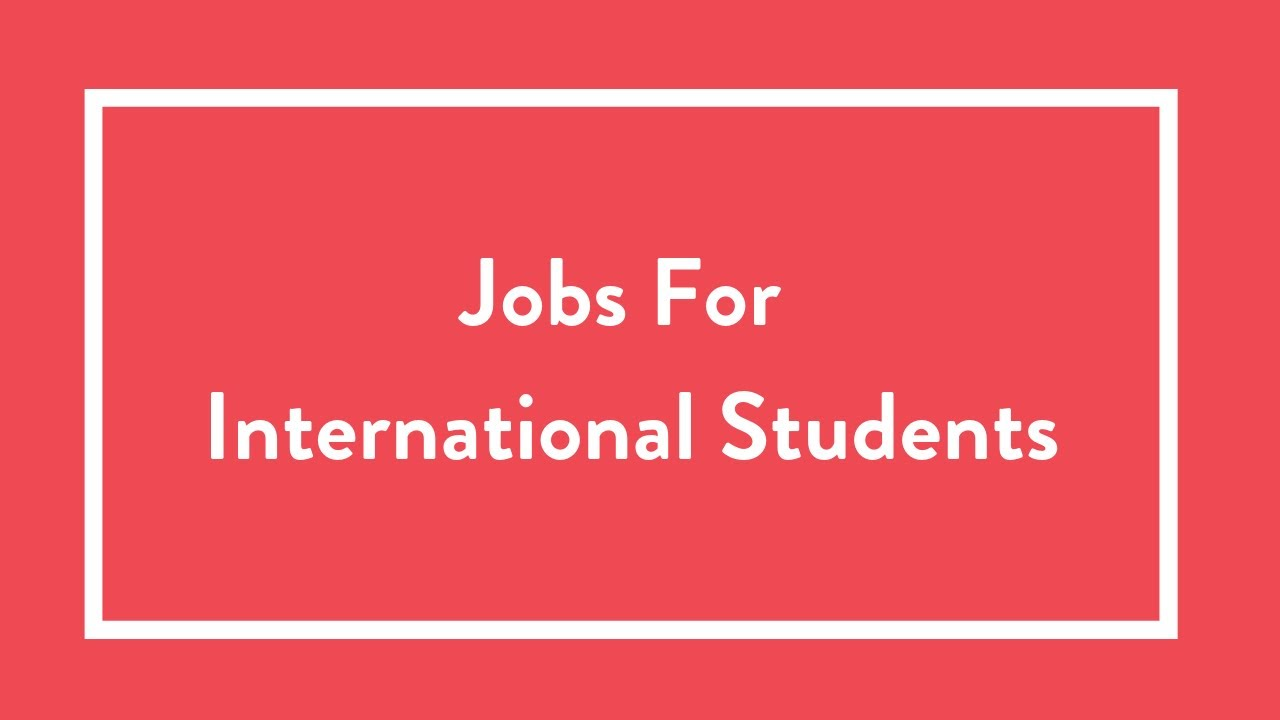 Top 10 Jobs for International Students - Insider Guides