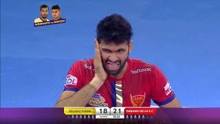 Dabang Delhi KC vs Telugu Titans |  Pro Kabaddi Highlights 2019 | PKL 2019 | Match 94 | 16 September