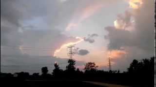 Man's face in the clouds 9/01/2013~Midwest Sunset