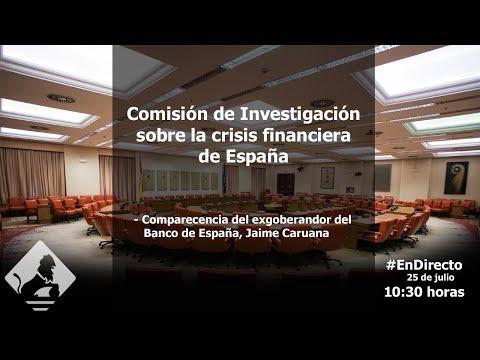 Comisión de Investigación sobre la crisis financiera de España (25/07/2017)