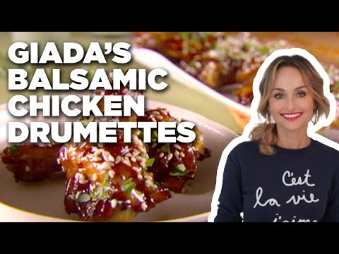 How To Make Giadas Balsamic Chicken Drumettes Food Network Youtube
