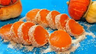 Десерт БЕЗ ВЫПЕЧКИ из ТРЕХ ИНГРЕДИЕНТОВ за 3 МИНУТЫ! Так ПРОСТО и так ВКУСНО! Из ТЫКВЫ Без желатина