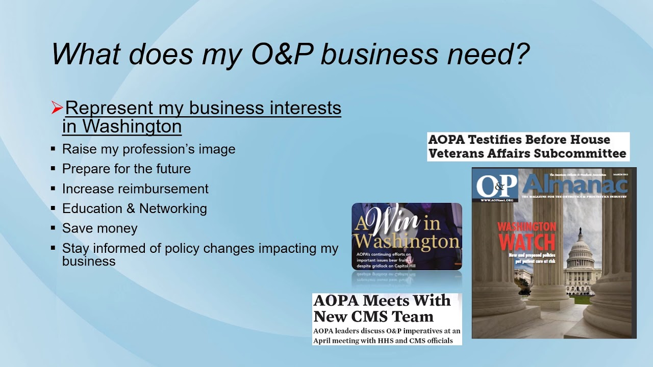 Become a Member | AOPA – AMERICAN ORTHOTIC & PROSTHETIC
