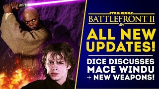 NEW UPDATES: Dice Replies About Mace Windu, New Weapons Coming? Star Wars Battlefront 2 Update