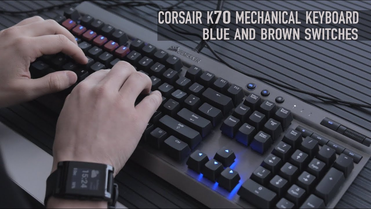 corsair vengeance k70 cherry mx blue brown switches overview youtube. Black Bedroom Furniture Sets. Home Design Ideas