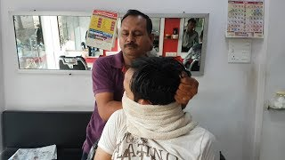 Most amazing Head massage with neck cracking