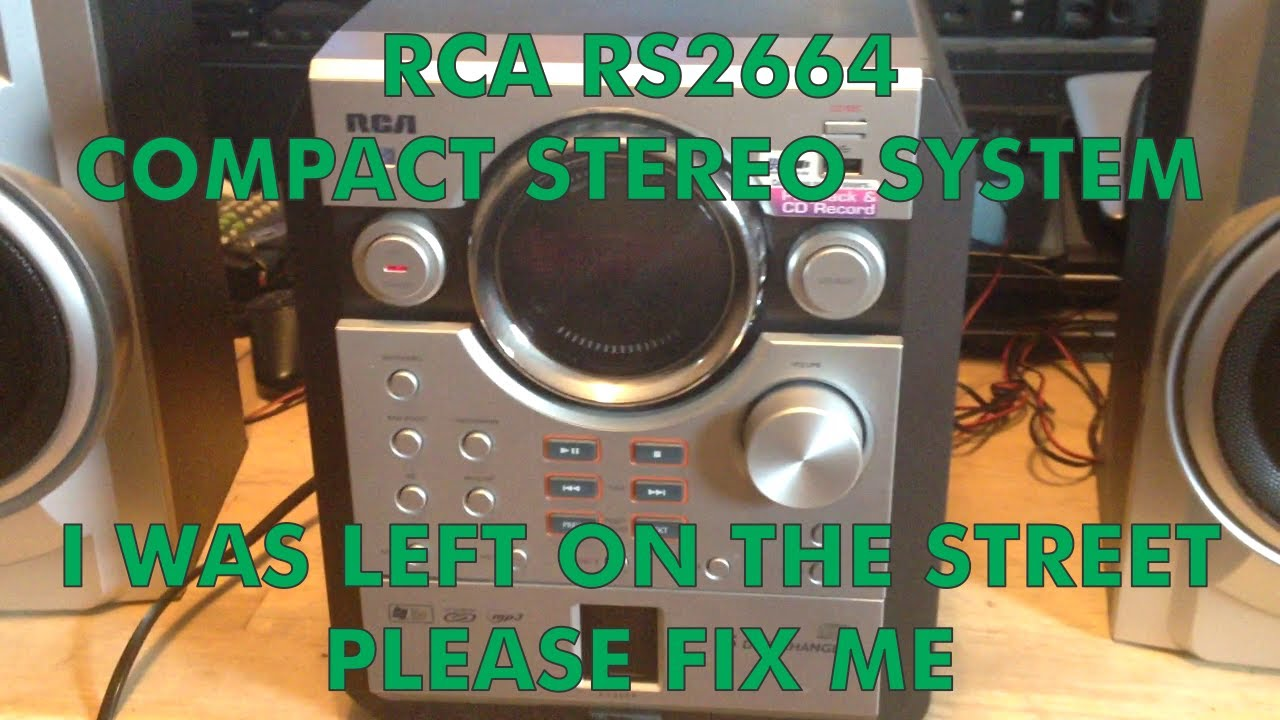 Trash Picked RCA RS2664 Compact Stereo Repair