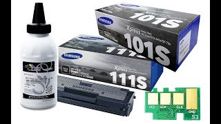 How to Refill Samsung D101S, D111S, Xerox Phaser 3020/WC3025 Cartridges, Chip & OPC Drum Replacement