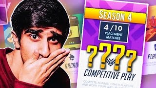 GETTING MY SEASON 4 RANK! - OVERWATCH COMPETITIVE GAMEPLAY