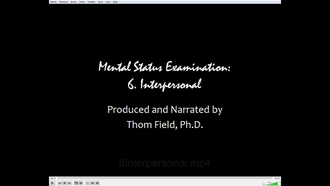Mental status exam training thom field phd lmhc lpc ncc ccmhc acs