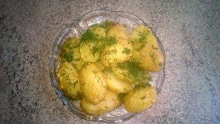 Запечённый молодой картофель с горчицей и специями в мультиварке