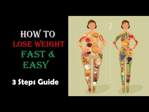 How to lose weight fast and easy- 3 steps guide (No Exercise)