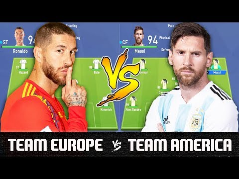 Team Europe VS Team America - FIFA 19 Experiment