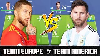 Team Europe VS Team America - FIFA 19 Experiment