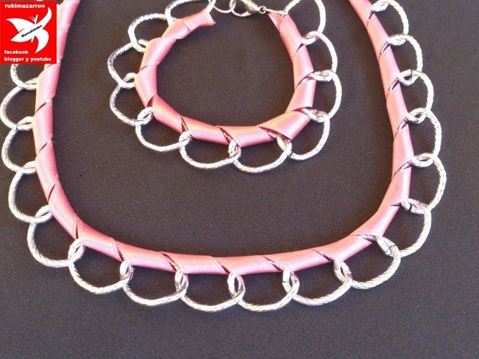 e2baa14725c5 DIY. Pulsera y collar super de moda - YouTube
