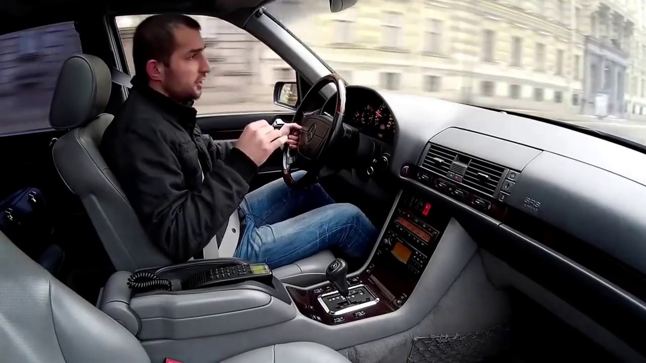 Тест драйв Mercedes Benz W140 (кабан)