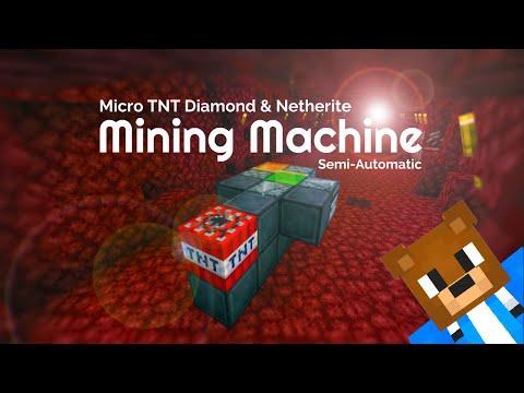 How To Make: A Micro Diamond And Netherite Redstone Mining Machine / Blastproof Flying Machine