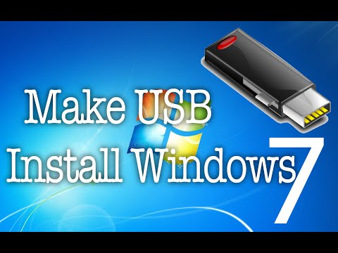 Create Windows 7 Usb Installation Disk | Create Usb Bootable To Install Windows 7