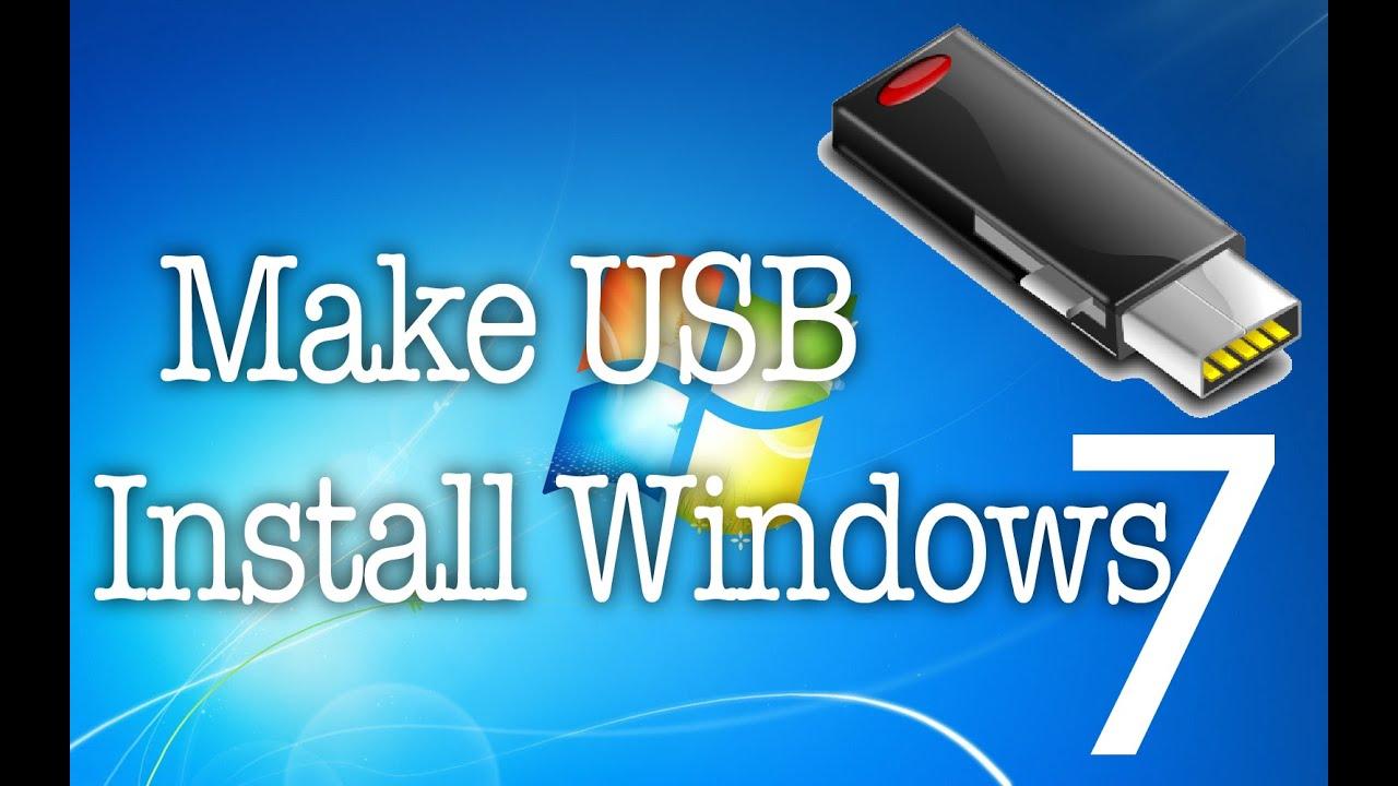 make windows 7 install disc bootable