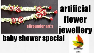 Hot Flower Jewellery Making For Baby Shower Video Flower Jewellery