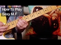 watch he video of 'Sexy M.F' Prince Guitar Lesson
