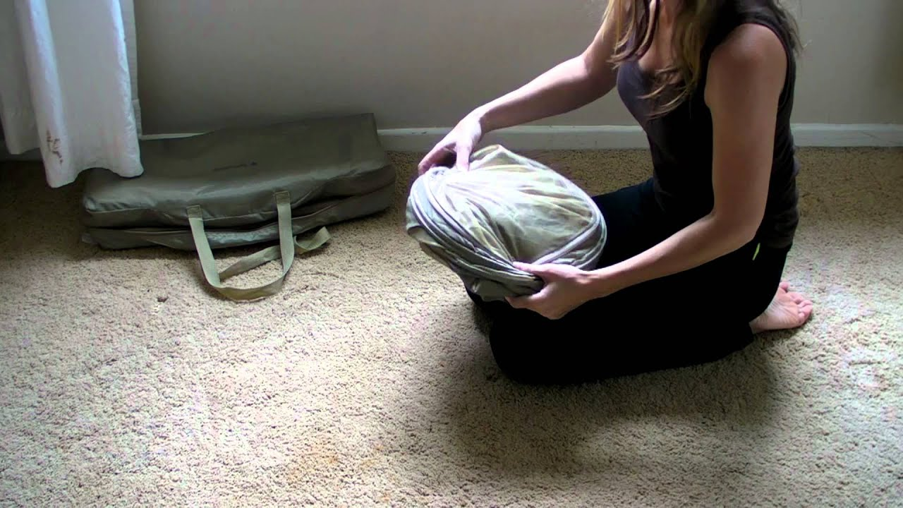 How to pop down a Samsonite Bubble Baby Cot & How to pop down a Samsonite Bubble Baby Cot - YouTube