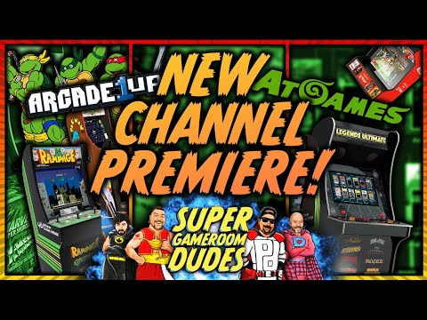 AtGames Arcade1Up iiRcade Nintendo Switch Updates! PREMIERE EPISODE! SGRD from Super GameRoom Dudes