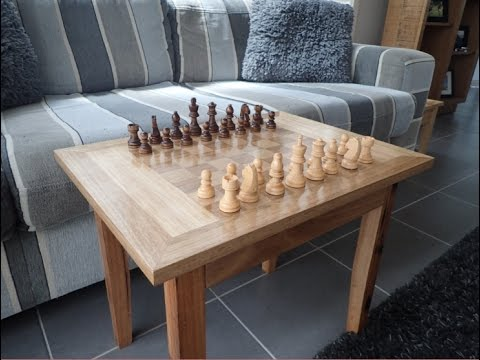 Making A Wooden Chess Board Table