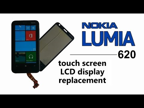 Nokia Lumia 620 - Touch screen Digitizer Glass LCD Display Replacement