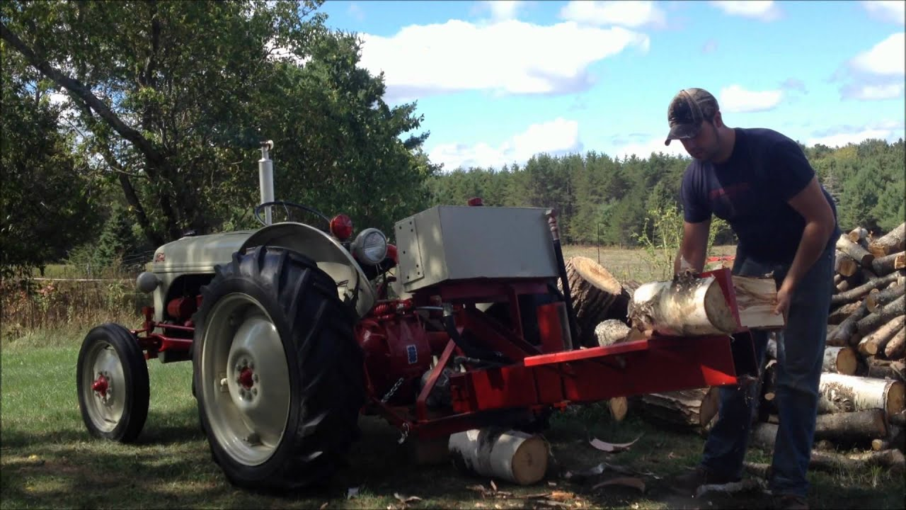 1951 Ford 8n Amp Wood Splitter Wmv Youtube