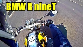BMW R NineT Тест райд с комментариями.