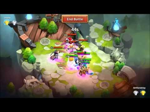 Castle Clash - Upgrading/Building Progress With Lost Battlefield 092515