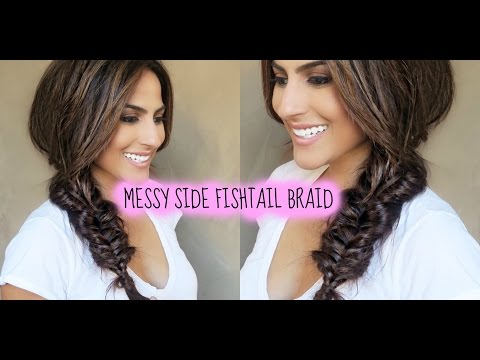 CUTE SIDE FISHTAIL BRAID WITH EXTENSIONS