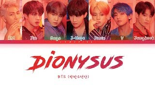 Gambar cover BTS - Dionysus (방탄소년단 - Dionysus) [Color Coded Lyrics/Han/Rom/Eng/가사]