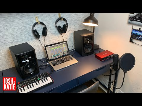 Minimalist Music Production Set Up 2020 | APARTMENT MUSIC STUDIO | Budget Home Music Studio Tour
