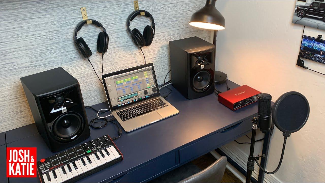 Minimalist Music Production Set Up 20   APARTMENT MUSIC STUDIO   Budget  Home Music Studio Tour