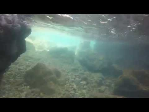 Baie Rouge Beach, St  Maarten St  Martin Snorkeling and Cave Swimming GoPro HD