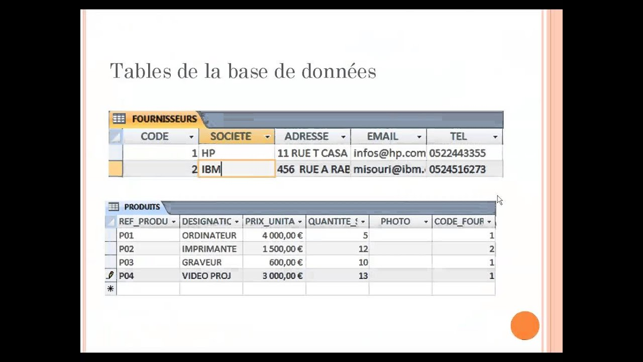 tutorial 1 introduction aux bases de donn u00e9es avec microsoft access mli enset 2013