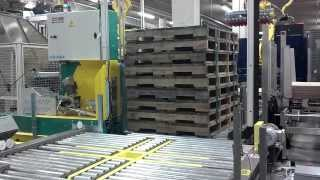 Newell strapping system with pallet rotation