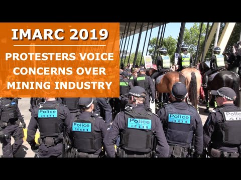 IMARC 2019 mining conference protests in Melbourne: a view from both sides