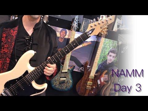NAMM 2018 | Day 3 | Artist Performances, Kiesel Jason Becker Guitar, Friedman Guitars, BluGuitar